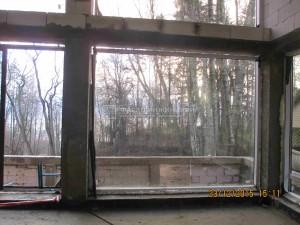 большое окно со стеклопакетом
