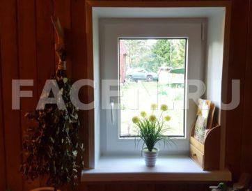 Заменили старое деревянное окно в бане (дер. Олики) на новое теплое со стеклопакетом